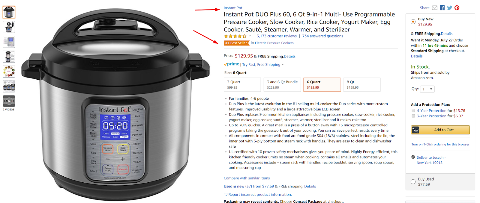 Product Example - Amazon best seller