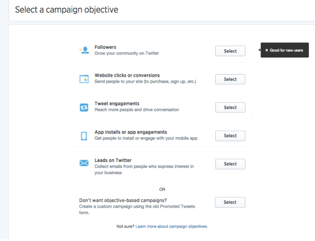 campaign objective twitter