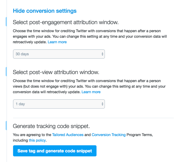 set up conversion tracking twitter social examiner