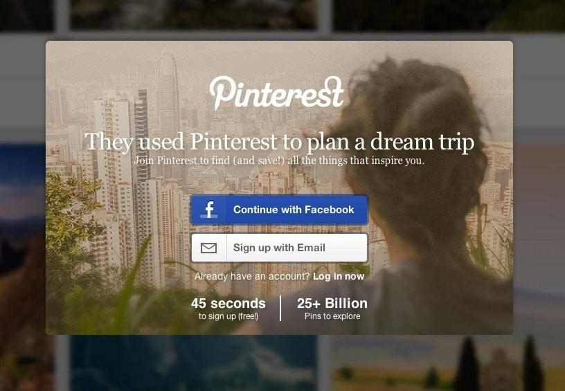 pinterest emotion inspire example via kickofflabs