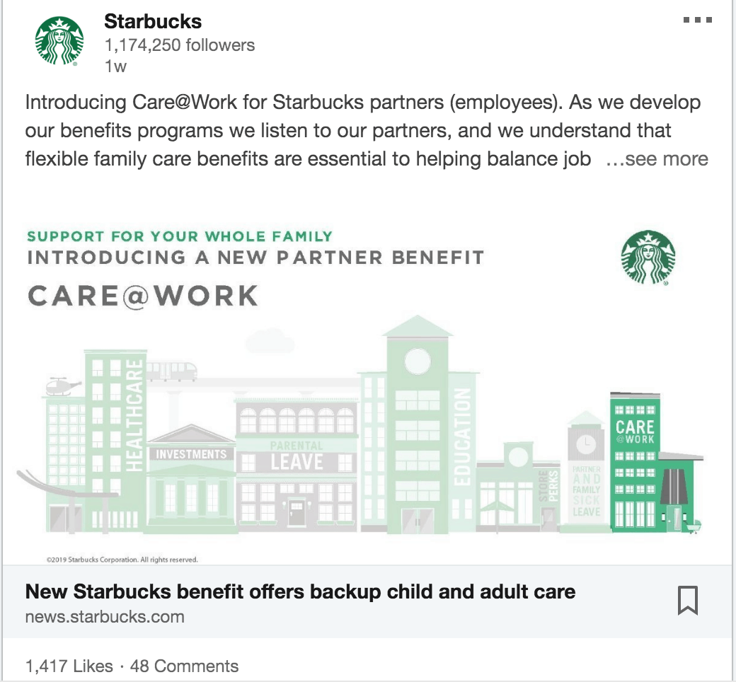starbucks ad example