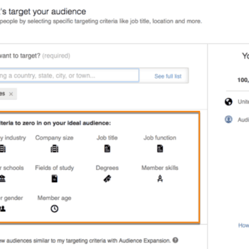 linkedin targeting for B2B attributes
