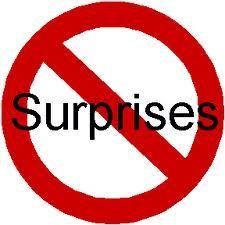 no surprises manage expectations